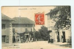 SALAGNON - La PLACE - Superbe Plan Animé Devant Café Et Boulangerie - BE -  2 Scans - France