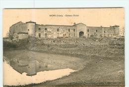 MIONS - Château Féodal Et Son Reflet Dans Le Miroir De L' Etang -  2 Scans - Non Classés