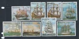 Paraguay 1976 German Sailing Ships Set Of 8 Singles CTO - Paraguay