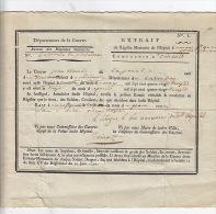 Registre Mortuaire De L'hôpital Du Mont Saint-Quentin. Jean Claire, Né à St-Denis Mailloc, Calvados. - Documents