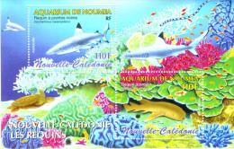New Caledonia 2005 Marine Life Sharks Fishes Turtle SS MNH - Vie Marine