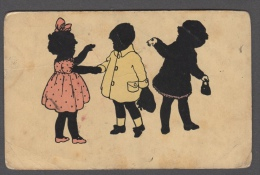 3 CHILDREN IN SILUETTE EDIZIONE T.O.P.O. G. BALLERINI FIRENZE FP NV SEE 2 SCANS - Siluette