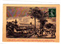 Vieux Troyes Le Mail De L'ancien Embarcadere Et Le Jardin Du Rocher (1860) D'après Une Gravure D'époque - Troyes