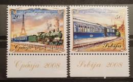 Serbia, 2008, Mi: 255/56 (MNH) - Eisenbahnen