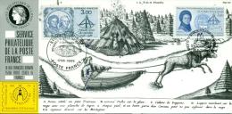 CM-CP031-Carte Expo-Exhibition Card #1986-France -Finlande # Expo STOCKHOLMIA -Stockholm # Maupertuis,measuring,Lappland - Philatelic Fairs