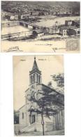 2 Cpa Bessèges : Vue Du Bas-Travers / L'église - Bessèges