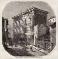 1850 - Gravure Sur Bois - Paris (4ème) - Prison De La Petite Force Rue Pavé - FRANCO DE PORT - Vieux Papiers
