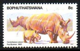 BOPHUTHATSWANA. N°100 De 1983. Rhinocéros. - Rhinozerosse
