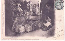 Le Vin De Champagne, Série G -40 - Vérification Des Bouteilles, Et Bas-Relief: La Vendangeuse-ed. Weinmann - Epernay