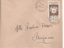 N° 668 Seul Sur Lettre PLOUGASTEL 9/2/45 - Marcophilie (Lettres)