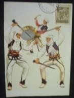 Carte Postale Danses Populaires De KOSOVO-METOCHIA 1965 - 1945-1992 République Fédérative Populaire De Yougoslavie