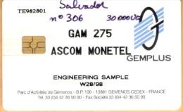El Salvador - Monetel Engineering Sample Gemplus - El Salvador