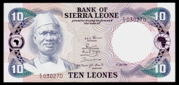 Sierra Leone 10 Leones 1980 P.8a UNC - Sierra Leone
