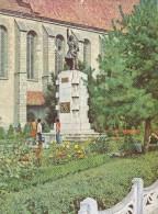 BISTRITA TOWN,STATUE ANDREI MURESANU,POSTCARD FOR COLLECTION, 1972,USED, ROMANIA - Sculptures