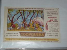 BUVARD Publicitaire  BLOTTING PAPER   - COOPQUINA HISTOIRE DU QUINQUINA N° 1 - Liquor & Beer