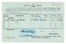 Heimat ZH KEMPPTHAL 12.8.1900 Blau Im Kasten UPU 5Rp. Auf Postkarte Schweiz. Nordostbahn - 1882-1906 Stemmi, Helvetia Verticalmente & UPU