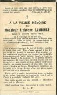 Alphonse Lambinet Tintange 1903 Hambourg 1944 - Fauvillers