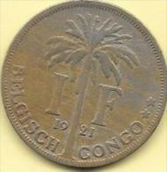 1 Franc 1921 FL  Clas D 193 Superbe - Congo (Belgian) & Ruanda-Urundi