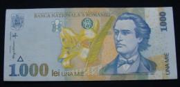 ROMANIA 1000 LEI 1998, VF+. - Romania