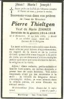 Pierre Thieltgen Heinstert 1882 1949 Invalide De Guerre 14-18 - Attert