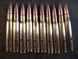 Lot De 10  Cartouches US Garand Neutralisées  1942-43 - Armes Neutralisées