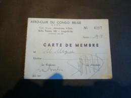 CONGO BELGE - AERO CLUB DU CONGO BELGE-Aérodrome De N'Dolo - De 1958 - Au Nom De M MAQUET - Vieux Papiers