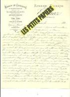 39 - Jura - LONS-LE-SAUNIER - Facture CUAZ - épicerie – 189? - REF 220 - France