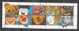 Great Britain 1990,10V In Sheetlet,circus,Zirkus,cirkus,cirque,circo,clown,teddybear,MNH/Postfris(L2043) - Zirkus