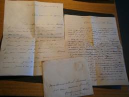 CONFESSEUR DE Melle Lisette SPIROU LEONARD De à Andrimont Dison 3 Letrres 1948 - Vieux Papiers