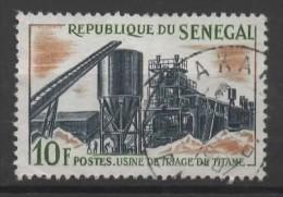 SENEGAL 1964 Senegal Industries - 10f  Titanium Sorting Works FU - Senegal (1960-...)
