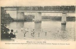 MONSEGUR BAIGNADE DU 2 JANVIER 1904 MANIFESTATION HYDROTHERAPIQUE ECOLE DU DR ROULET - France