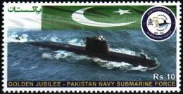 Pakistan Stamps 2014 Golden Jubilee-Pakistan Navy Submarian Force MNH - Pakistan