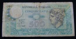 ITALIA 500 LIRE 1979, VG. - [ 2] 1946-… : Republiek