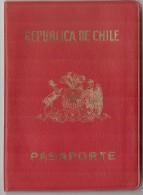 CHILE 1979 PASSPORT - PASSEPORT - PASAPORTE - USA- COSTA RICA & PANAMA VISAS And REVENUE STAMPS - Documentos Históricos