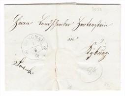 Heimat ZH LANGNAU A/Albis 1/9 Auf Brief  (1844) Nach Kyburg Mit Stabstempel Als Ankunft. - Svizzera