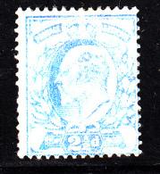 Great Britain MH Scott #131 2 1/2p Edward VII, Ultramarine - Crackled Gum, Thin, Short Perfs - Neufs