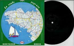 Disque Publicitaire ESSO Régions France - Route Joyeuse Sans N°- Chansons Populaires Marche Bretonne; Suite Danse Breton - Vinyles