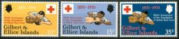 1970 Isole Gilbert Ed Ellice Croce Rossa Red Cross Croix Rouge Set  MNH** Ul11 - Gilbert- Und Ellice-Inseln (...-1979)
