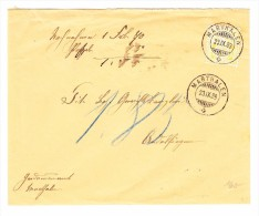 Heimat ZH MARTHALEN 23.9.1889 Mit 15Rp. WZ Auf Brief Nach Andelfingen - 1882-1906 Armoiries, Helvetia Debout & UPU