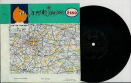 Disque Publicitaire ESSO Régions De France - La Route Joyeuse N° 01 - Chansons Populaires De ILE De FRANCE - Vinyles