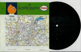 Disque Publicitaire ESSO Régions De France - La Route Joyeuse N° 04 - Chansons Populaires De LYONNAIS Et SAVOIE - Vinyles