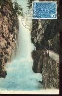 4025 Switzerland,  Maximum 1986 Pro Aqua,  Waterfall  Wasserfall  ,     Card Vintage - Cartoline Maximum