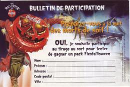 - COCA COLA - Bulletin De Jeu 2002 - - Coca-Cola