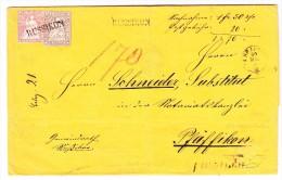 Heimat ZH RUSSIKON Stabstempel Auf 5 Und 15Rp Strubel Und PFÄFFIKON Stabstempel 20.5.1858 Auf Papier 2x Verwendet - Lettres & Documents