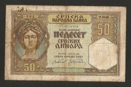 SERBIA - NATIONAL BANK - 50 Dinara (Belgrade - 1941) - Serbia