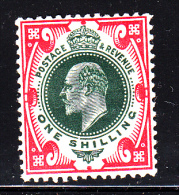 Great Britain MH Scott #138a 1sh Edward VII, Scarlet & Dark Green - Neufs