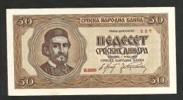 SERBIA - NATIONAL BANK - 50 Dinara (Belgrade - 1942) - Serbia