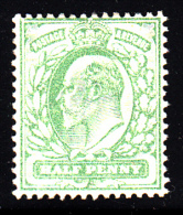 Great Britain Unused Scott #143 1/2p Edward VII, Pale Yellow Green - Neufs