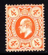 Great Britain MH Scott #144 4p Edward VII, Pale Orange - 1902-1951 (Rois)