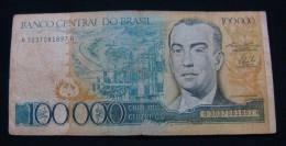 BRAZIL 100,000 CRUZEIROS ND 1990, VF. - Brésil